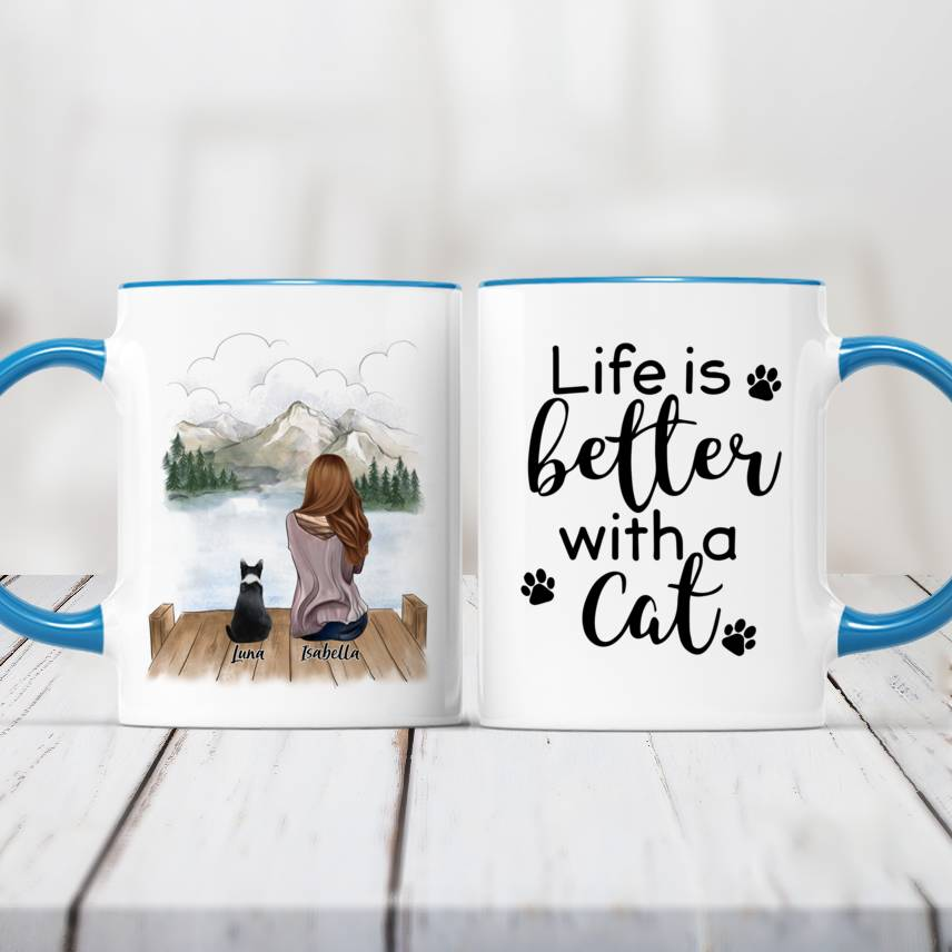 Girl and Cats - Life is better with cats