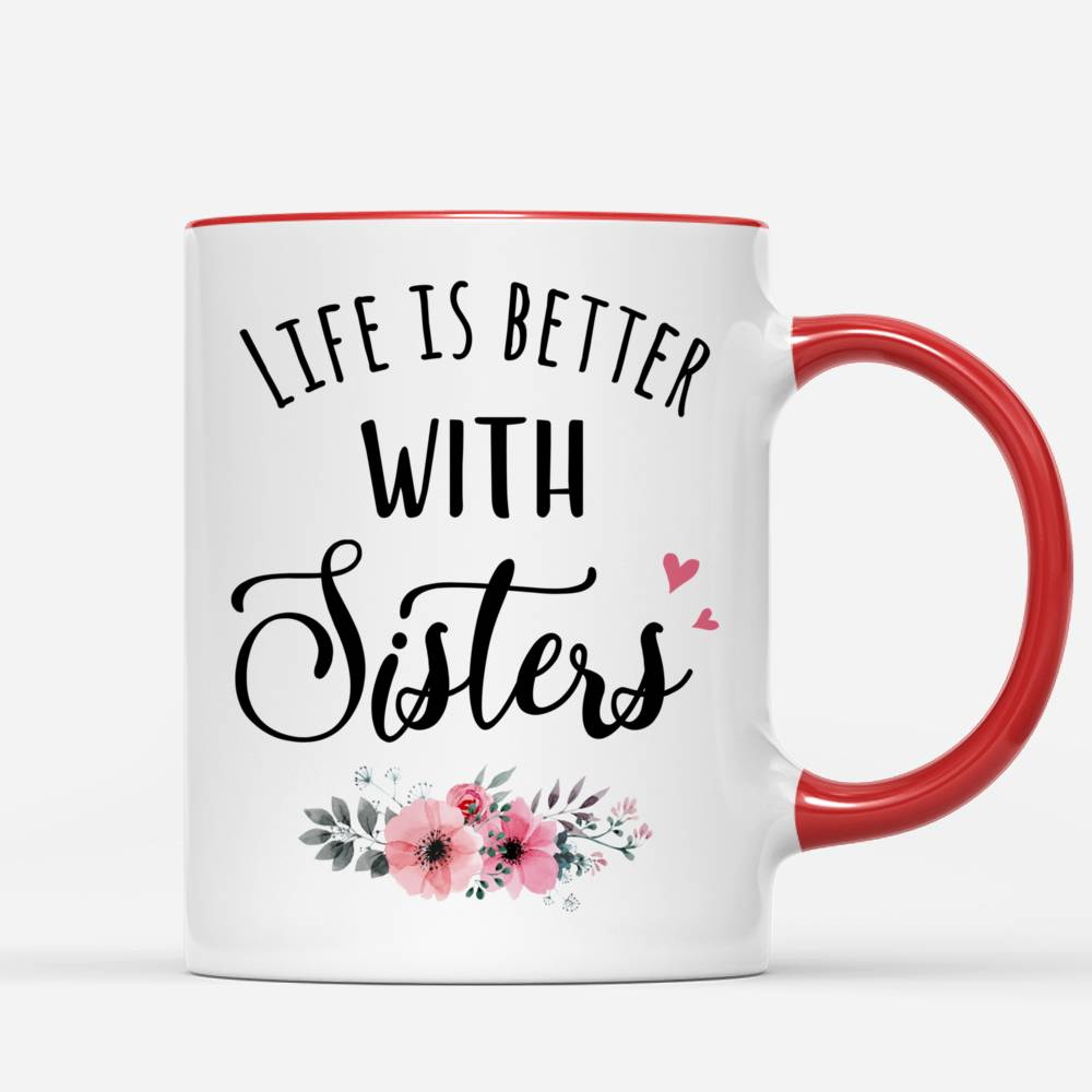 Up to 5 Girls - Life is better with Sisters (Ver 1) - Pink White
