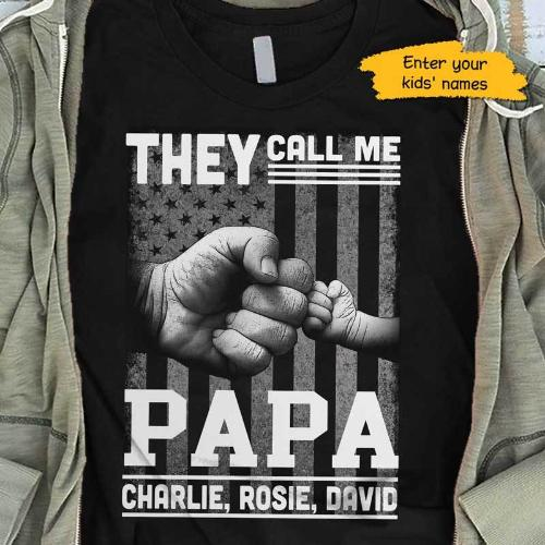 They Call Me Papa Nation Flag Personalized Shirt