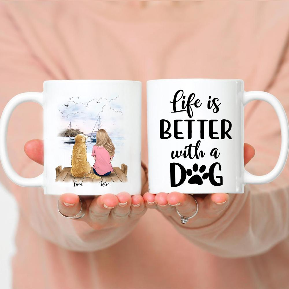 Girl and Dogs - Life Is Better With Dogs vs Beach