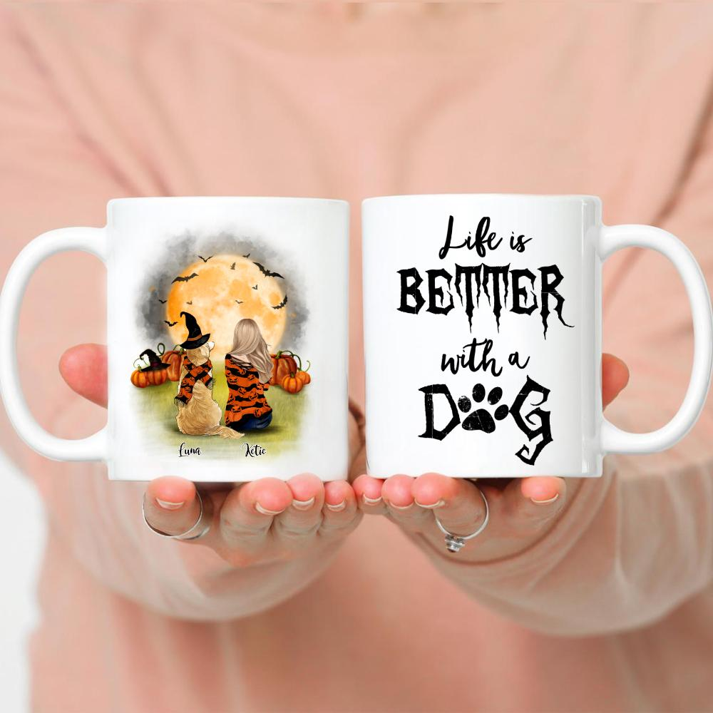Girl and Dogs - Life Is Better With A Dog - HLW