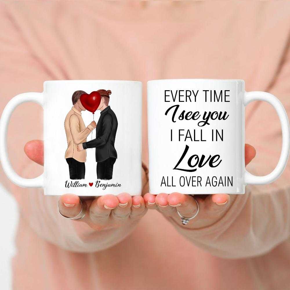 Kissing Men Couple 3 - Every time I see you I fall in love all over again