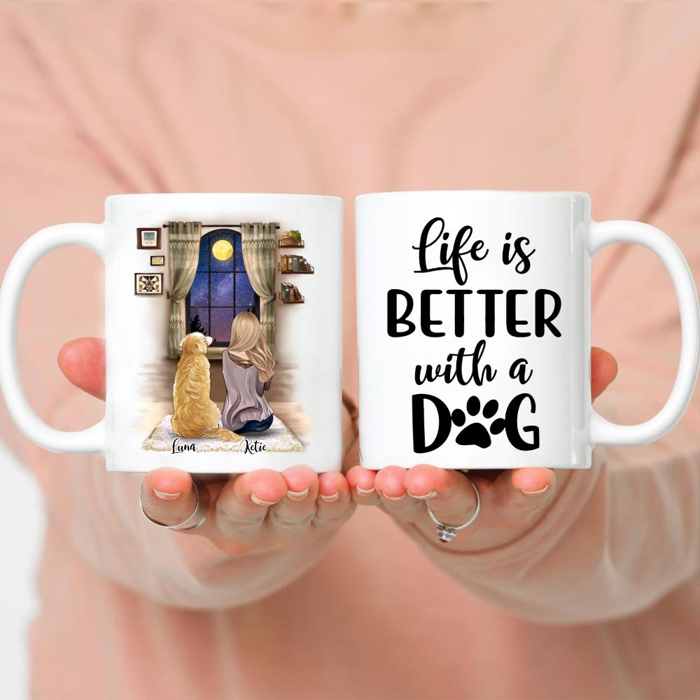 Girl and Dogs - Life Is Better With Dogs. VS2