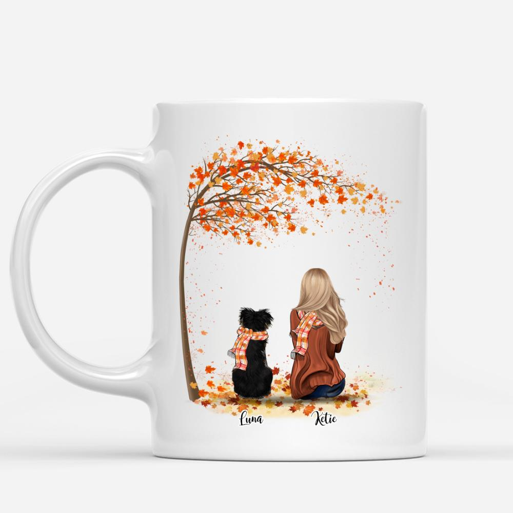 Girl and Dogs Autumn - Life Is Better With A Dog