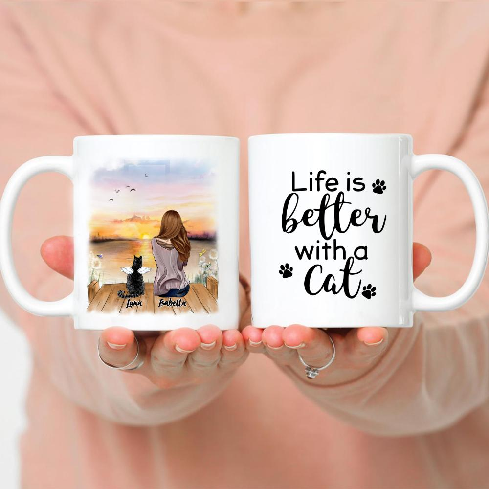 Girl And Cats - Life Is Better With A Cat